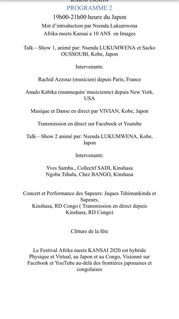 Culture et Tourisme. Kansai Festival au Japon... Intervention d'Yves Bunkulu, Ministre Congolais du Tourisme