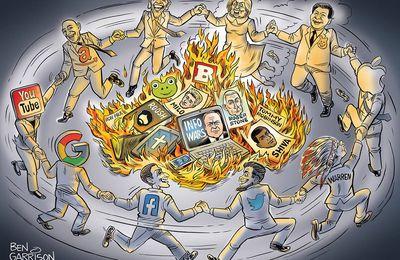Coup d'État mondial des GAFAM | Blackout virtuel sur l'Occident