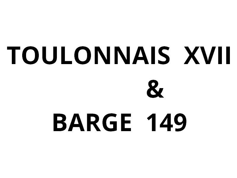 TOULONNAIS XVII ,remorquant  la barge DN 149 en petite rade de Toulon le 02 janvier 2017