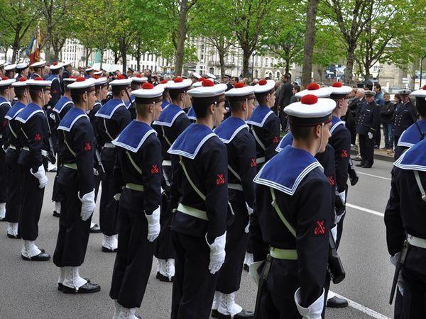 Commémoration à Quimper de la victoire du 8 mai 1945