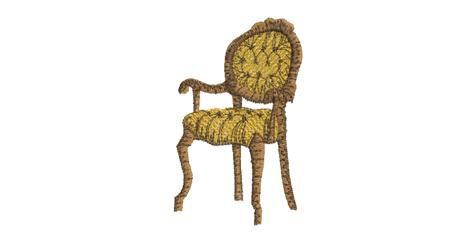 BRODERIE FAUTEUIL RETRO