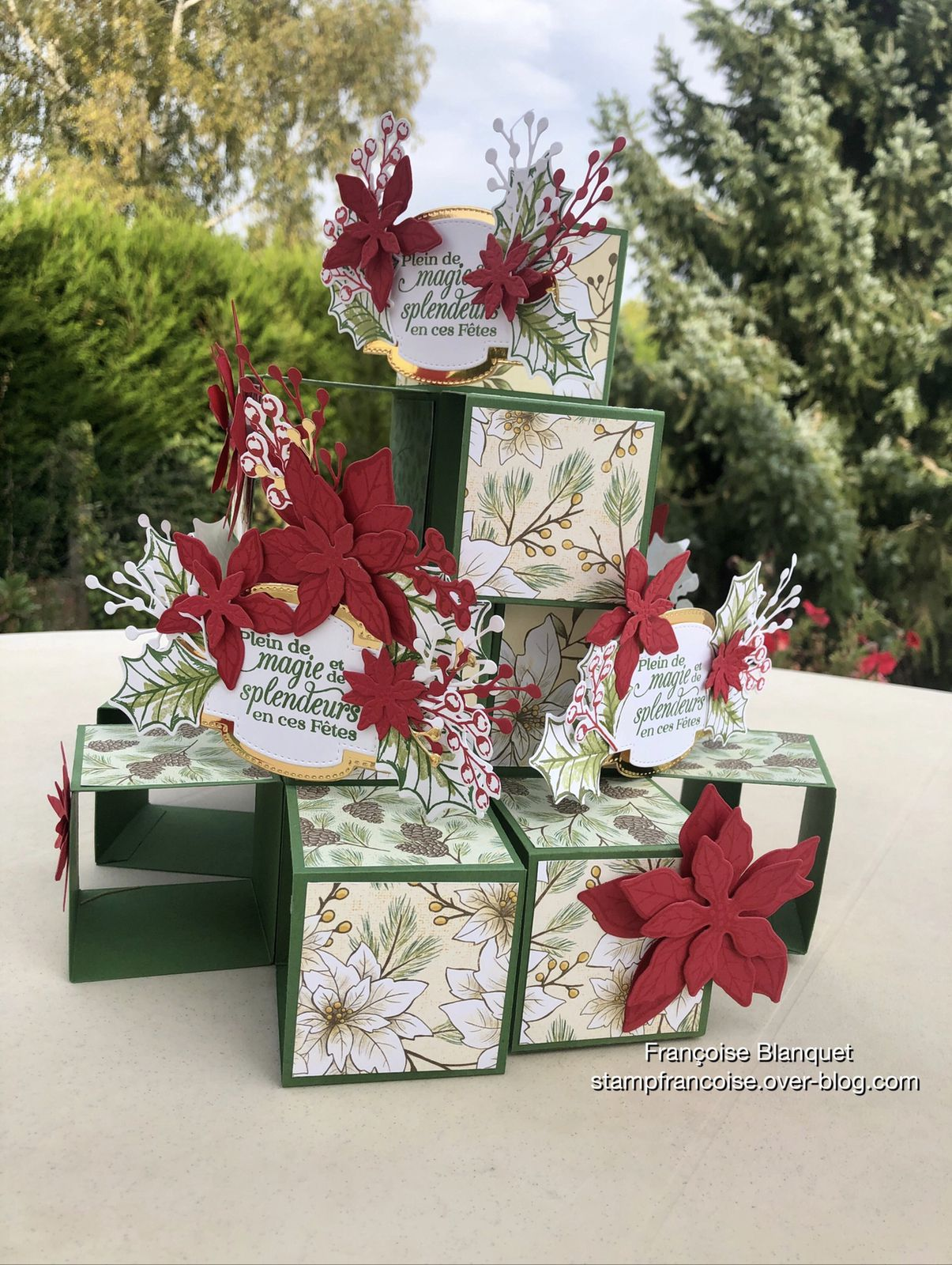 Stampin'Up! carte Pop Up cube