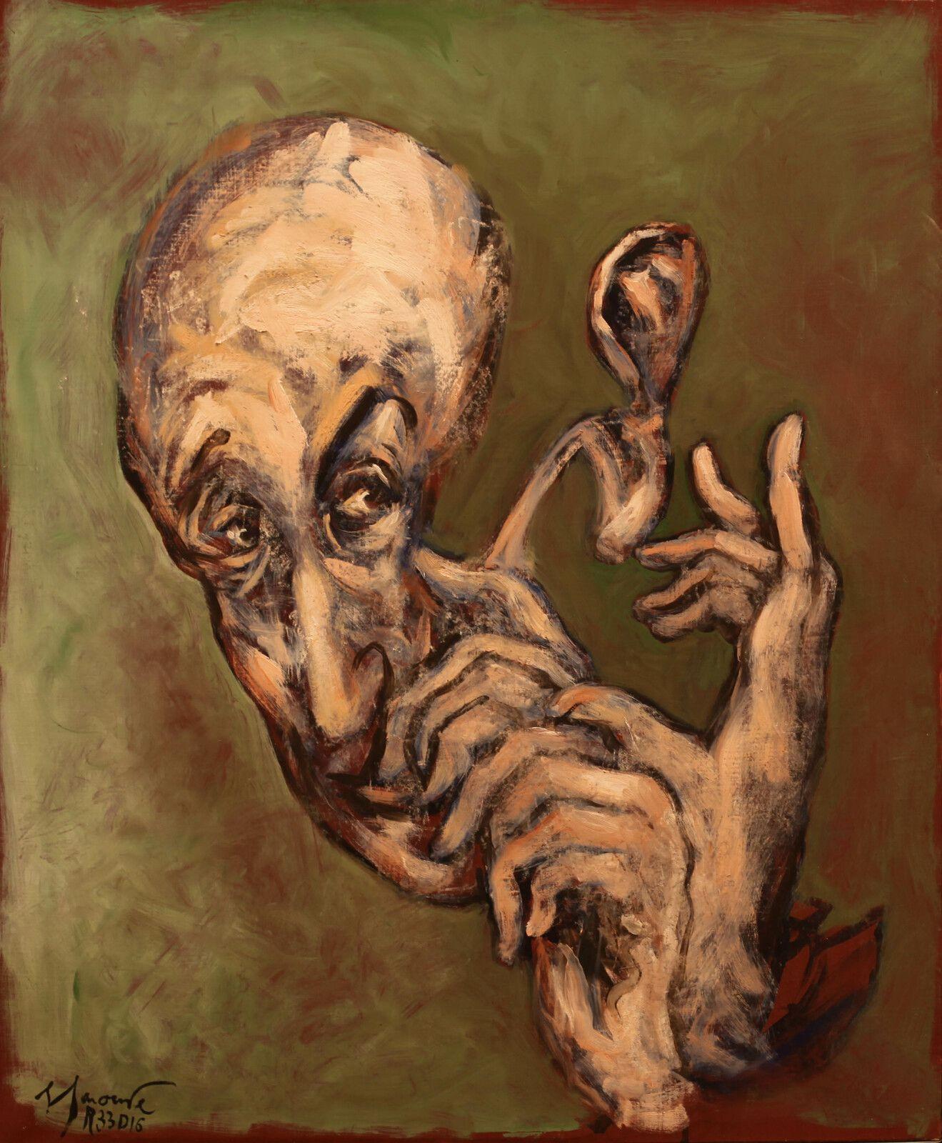 """""""Portrait de Gershom Scholem"""", 2020 de Gérard GAROUSTE - Courtesy de l'artiste et de la galerie Templon Paris © Photo Éric Simon"""