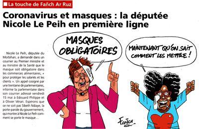 Nicole Le Peih prend conscience de l'importance des masques !