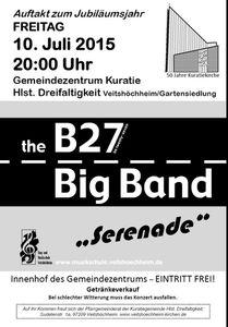 50 Jahre Kuratiekirche - Gartenfest  als Start ins Jubiläumsjahr u.a. mit B 27 Bigband der Musikschule vom 10. bis 12. Juli