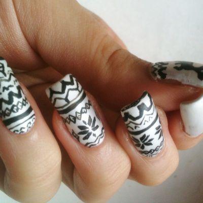 Nail art Imprimé Jacquard