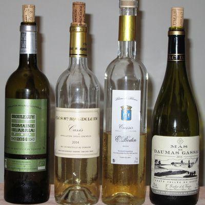 Quatre vins blancs du millésime 2014
