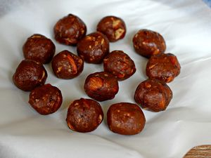 Rochers croquants chocolat et caramel