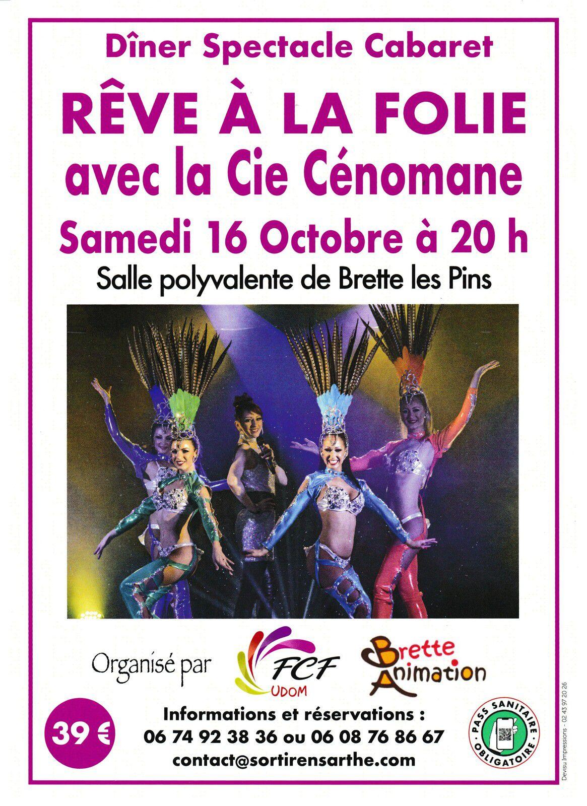"""""""Rêve à la Folie"""" Spectacle Cabaret"""