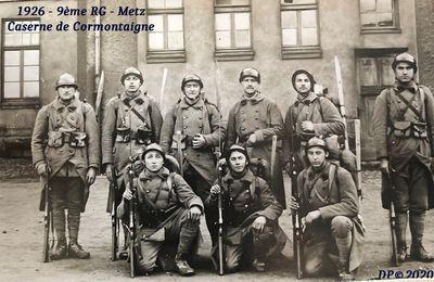 AVIS de RECHERCHE  :   9ème Régiment du Génie à METZ en 1926 - 6 ème Cie