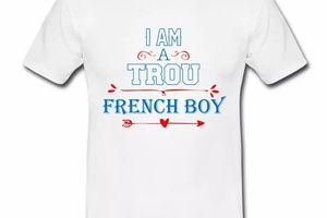 T shirt France Humour Trou French boy HBL