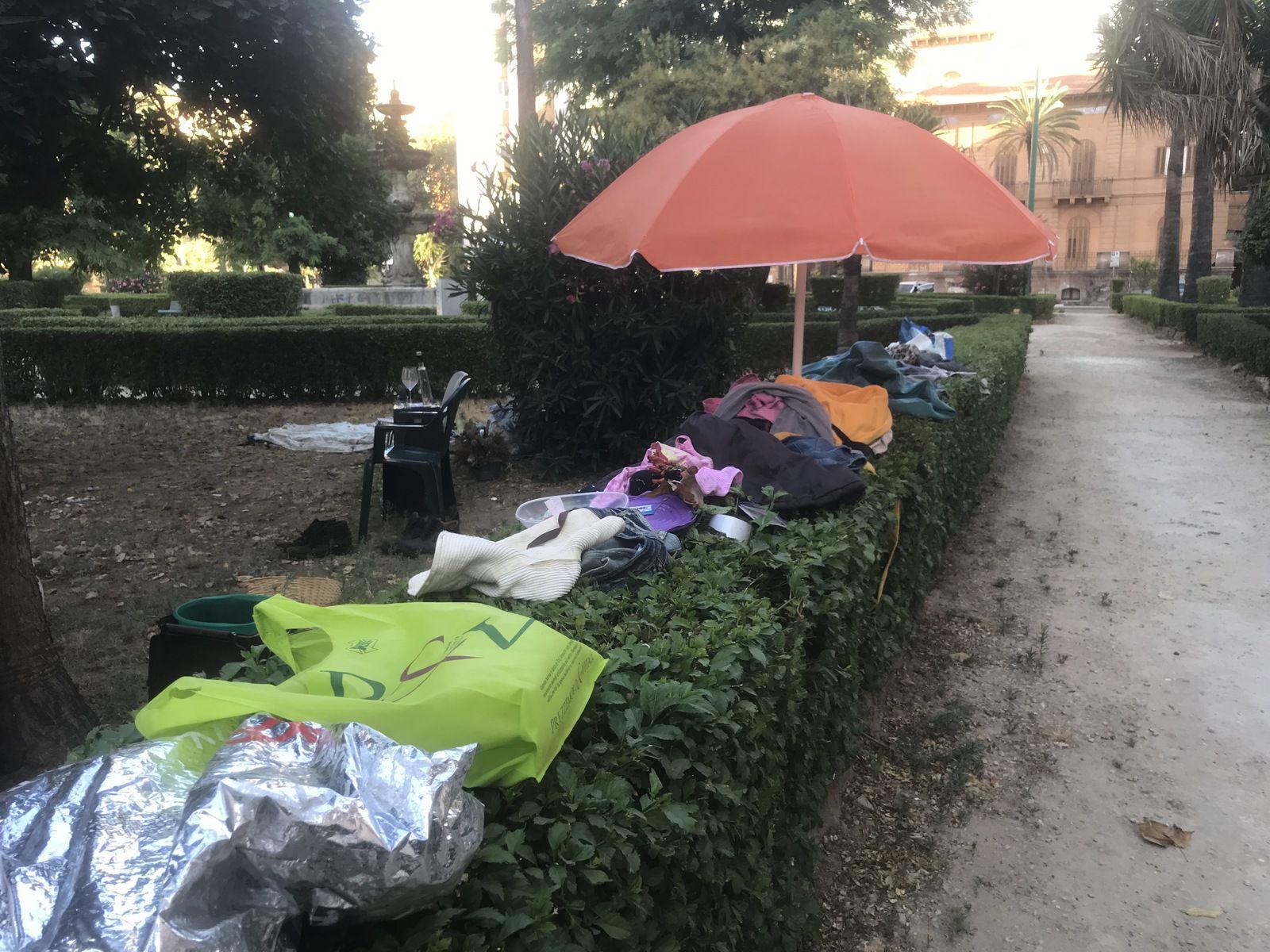 Homeless organizzato (foto di Maurizio Crispi, 2021)