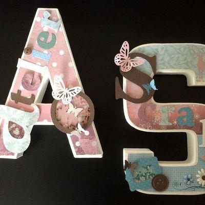 Lettres A et S en 3D