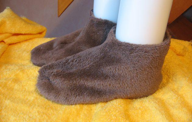 Chaussons ou surchaussettes - tuto
