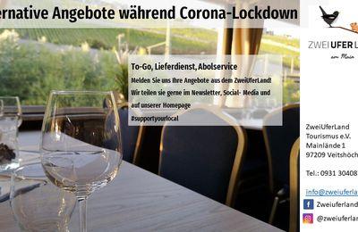 ToGo, Lieferdienst, Abholservice während Corona Lockdown: Aufruf Tourismusverein ZweiUferLand