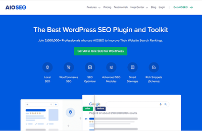 All in One SEO is the best WordPress SEO plugin With AIOSEO