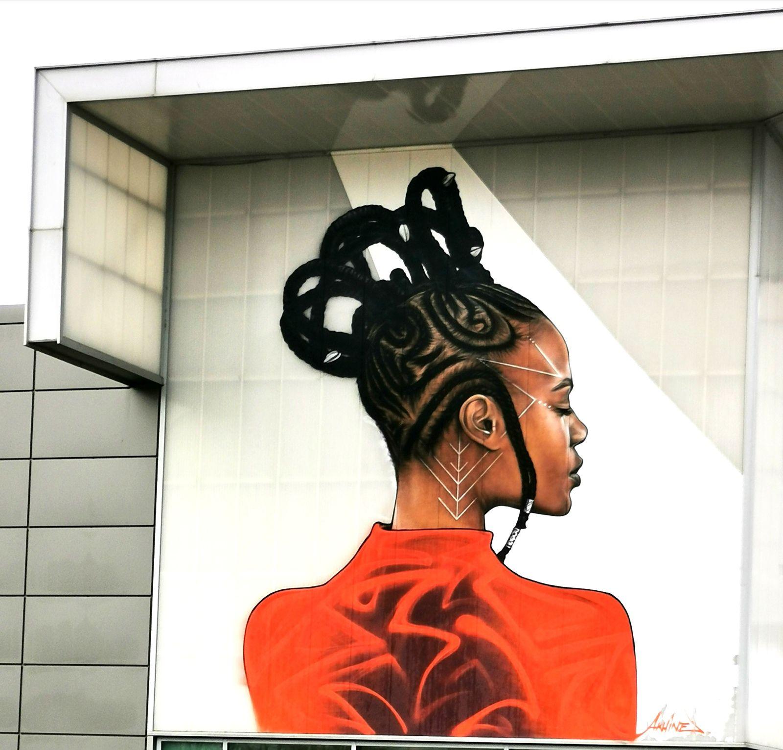 Street art au centre commercial du Clos du Chêne (77)