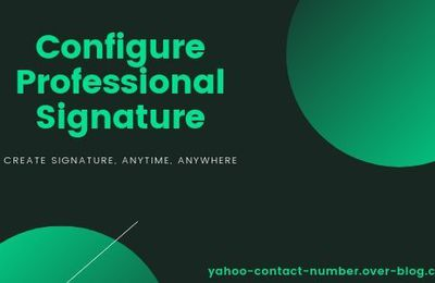 How to Configure Yahoo Mail Professional Signature