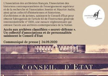 Restriction de l'accès aux archives: des associations et un collectif d'historien déposent un recours devant le Conseil d'Etat #archives #histoire