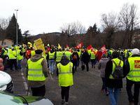 Samedi 9 février : la détermination reste entière. Encore 1000 manifestants au Puy