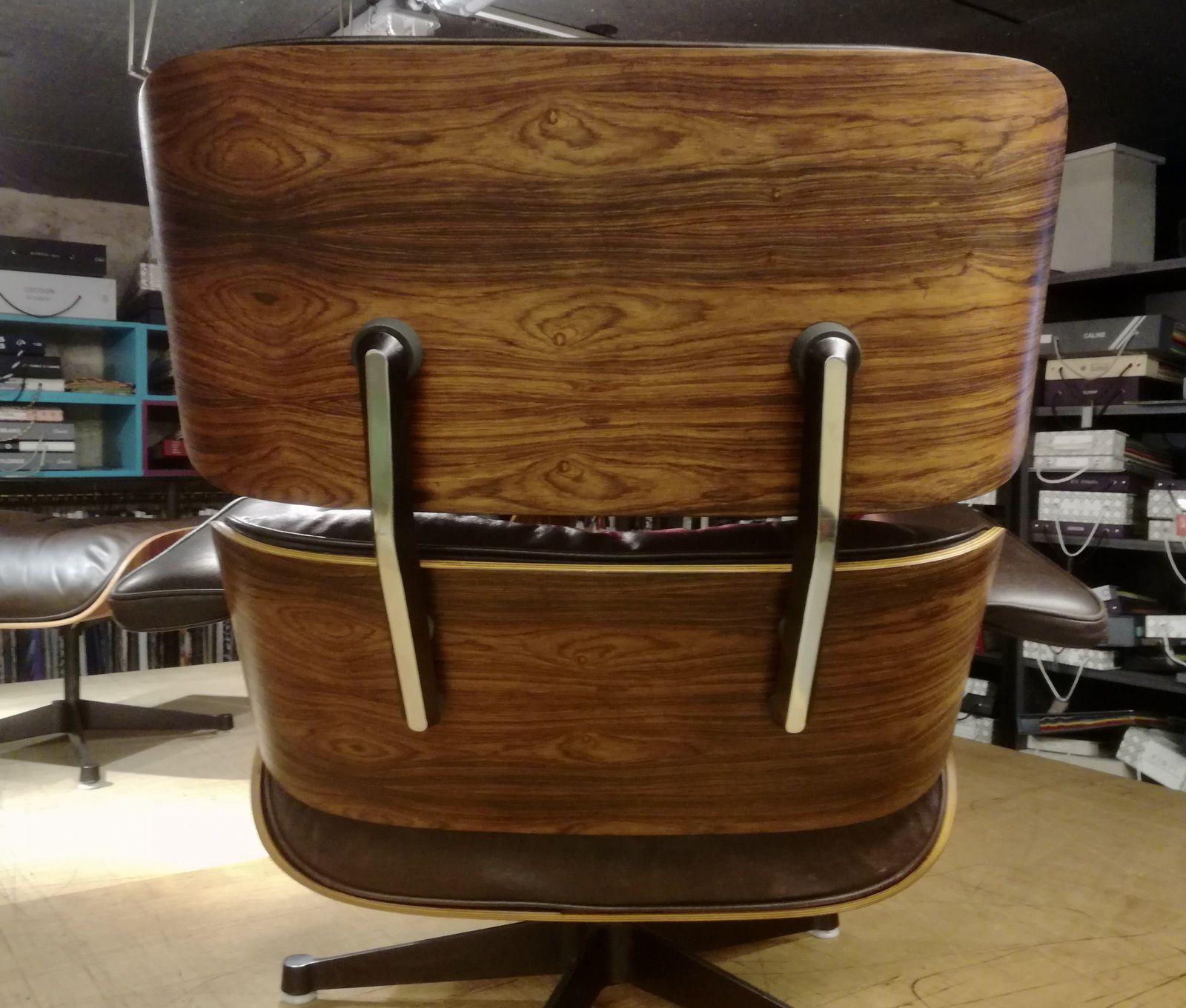 Spécialiste restauration & recollage Eames lounge - Devis sur photos