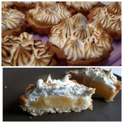Mini sweet meringue lemon tart