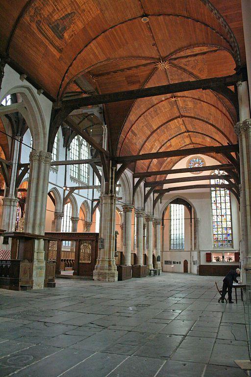 Oude kerk - une voûte pour toucher du bois