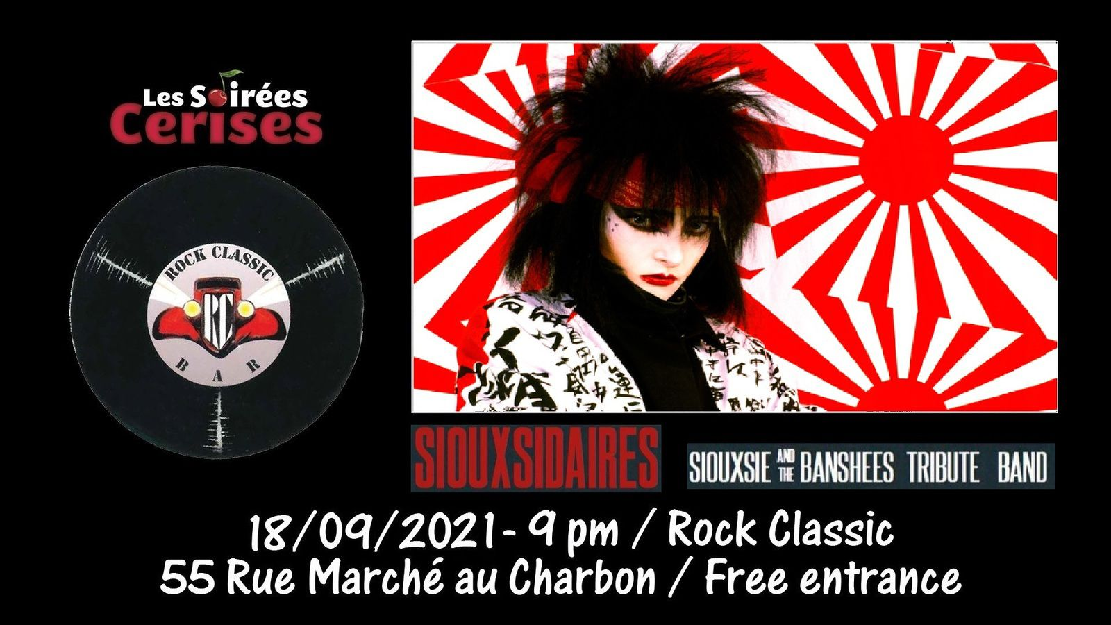 🎵 Siouxsidaires (Siouxsie and the Banshees tribute band) @ Rock Classic - annulé