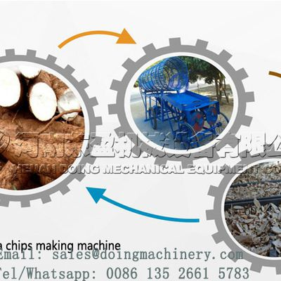 High quality cassava chips processing machine