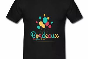 T shirt Gironde noir homme 33 Bordeaux the place to be