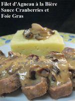 Filet d' Agneau à la Bière, Cranberries et Foie Gras ...