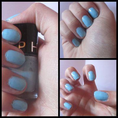 Vernis bleu pastel