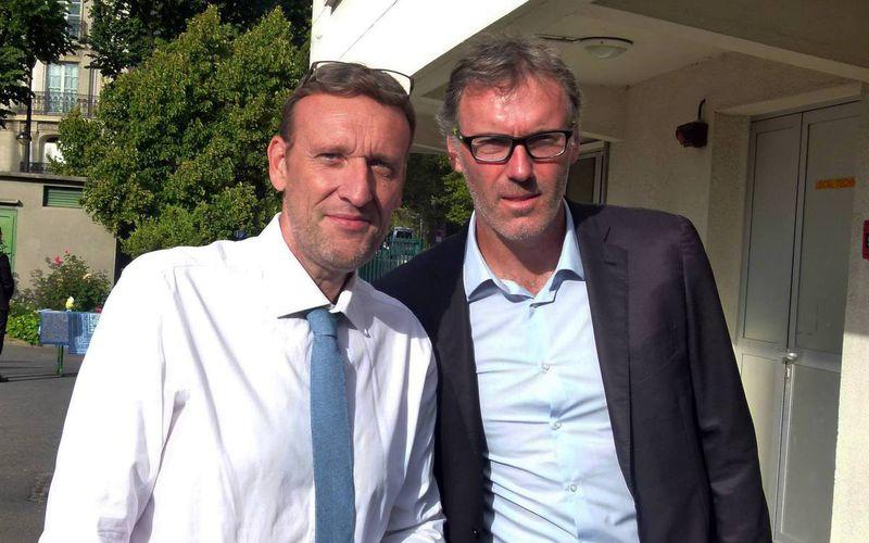 Avec Laurent Blanc...