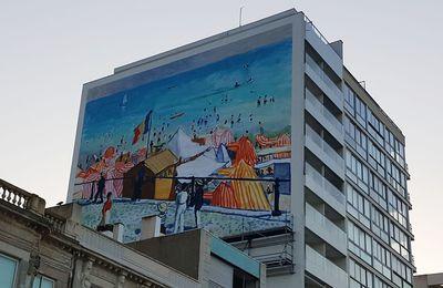 Scène de rue : Fresque aux Sables d'Olonne