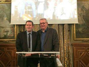 avec Bertrand Delanoë, Emmanuel Grégoire, Pierre Laurent