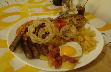 Typical full English breakfast