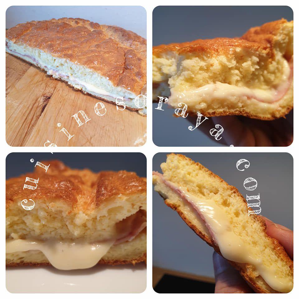 Gâteau salée au fromage et dinde