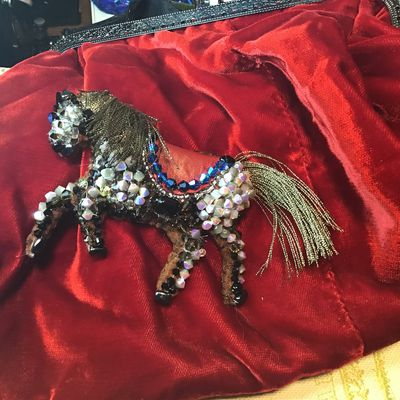 Sac broderies cheval