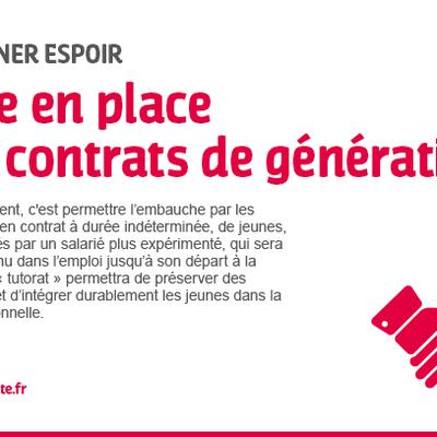Engagement tenu : Les contrats de génération pour insérer durablement les jeunes dans l'emploi et y maintenir les seniors