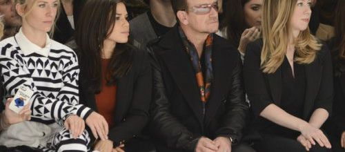 Bono au défilé de mode Edun -Skylight Modern -New York -09-02-2014