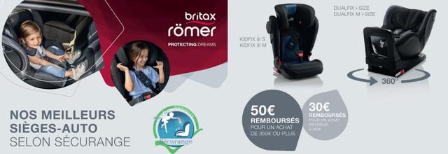 Des remises sur les meilleurs sièges Britax Römer sélectionnés par Securange du 15 au 30/11