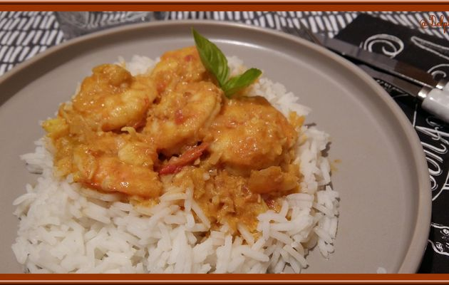 Gambas au Curry au Thermomix
