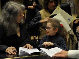Avec Martha Argerich à Martigny (Suisse) - Concert à l'UNESCO-Paris (photos : Sylvain Gélineau, dr)