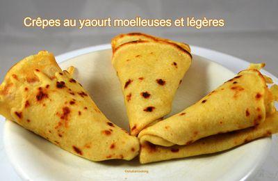 Crêpes au yaourt moelleuses et légères