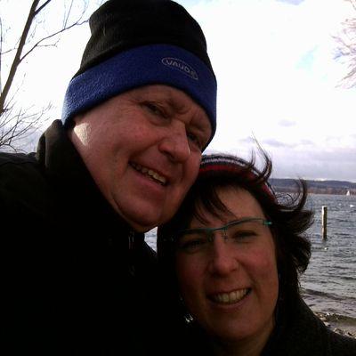 Doris und Günther Paulin bei Sturm in Überlingen am schönen Bodensee!