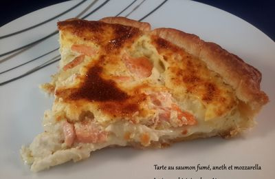 Tarte au saumon fumé, aneth et mozzarella