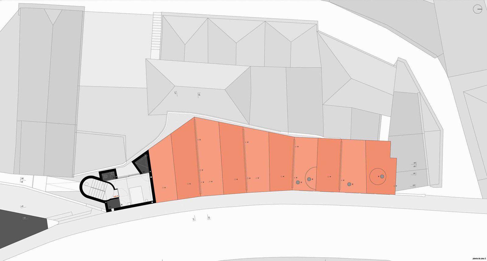 RED HOUSING BLOCK 'GENERAL TORRES 416' IN VILA NOVA DE GAIA, BY CAIANO MORGADO ARQUITECTOS