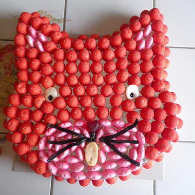 Gâteau de bonbons chat