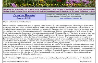 N° 18 L'ÉCHO DU CIQ LE DÉFENDS LA CADIERE D'AZUR EST DISPONIBLE CI-DESSOUS