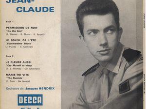 """jean claude berthon, un chanteur, un journaliste et un homme de presse français auteur des titres """"disco revue"""" et """"france disques"""""""